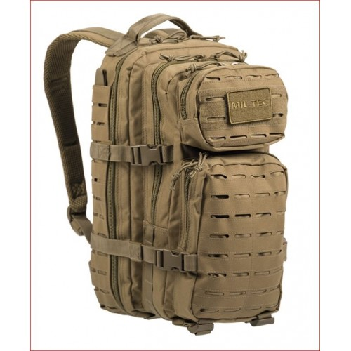 MIL-TEC seljakott US Laser Cut Assault Pack 20 L Coyote