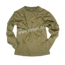 MIL-TEC pikkade varrukatega T-särk Cotton Oliv