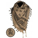 MIL-TEC tolmusall Shemagh Skull coyote/must
