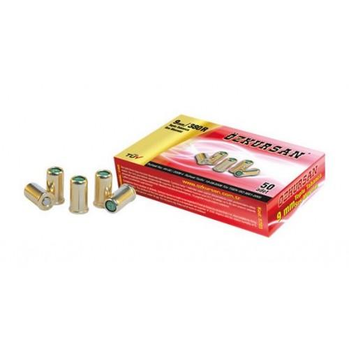 ÖZKURSAN Blank Yellow Nikel 9 mm 380 revolvrile